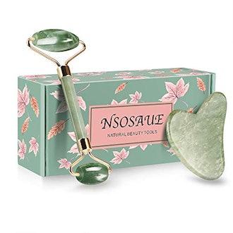 NSOSAUE Natural Jade Roller For Face