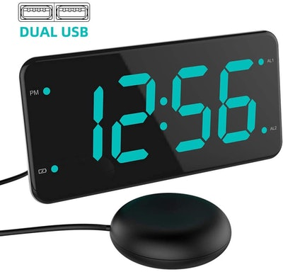 LIELONGREN Loud Vibrating Alarm Clock