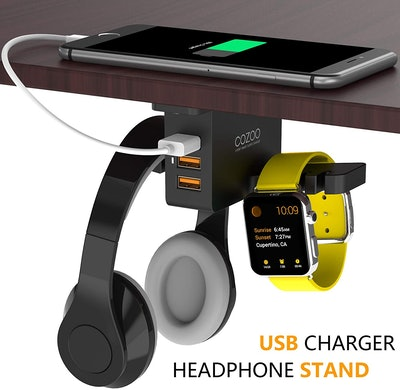 COZOO Under Desk Headset Holder and Charging Station