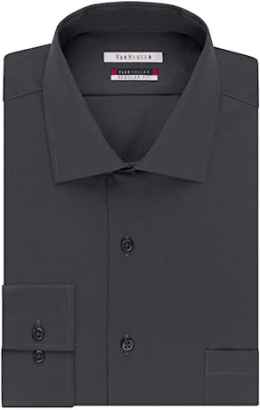 Van Heusen Men's Dress Shirt Flex Regular Fit Solid