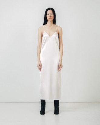 Ivory Silk Slip Dress