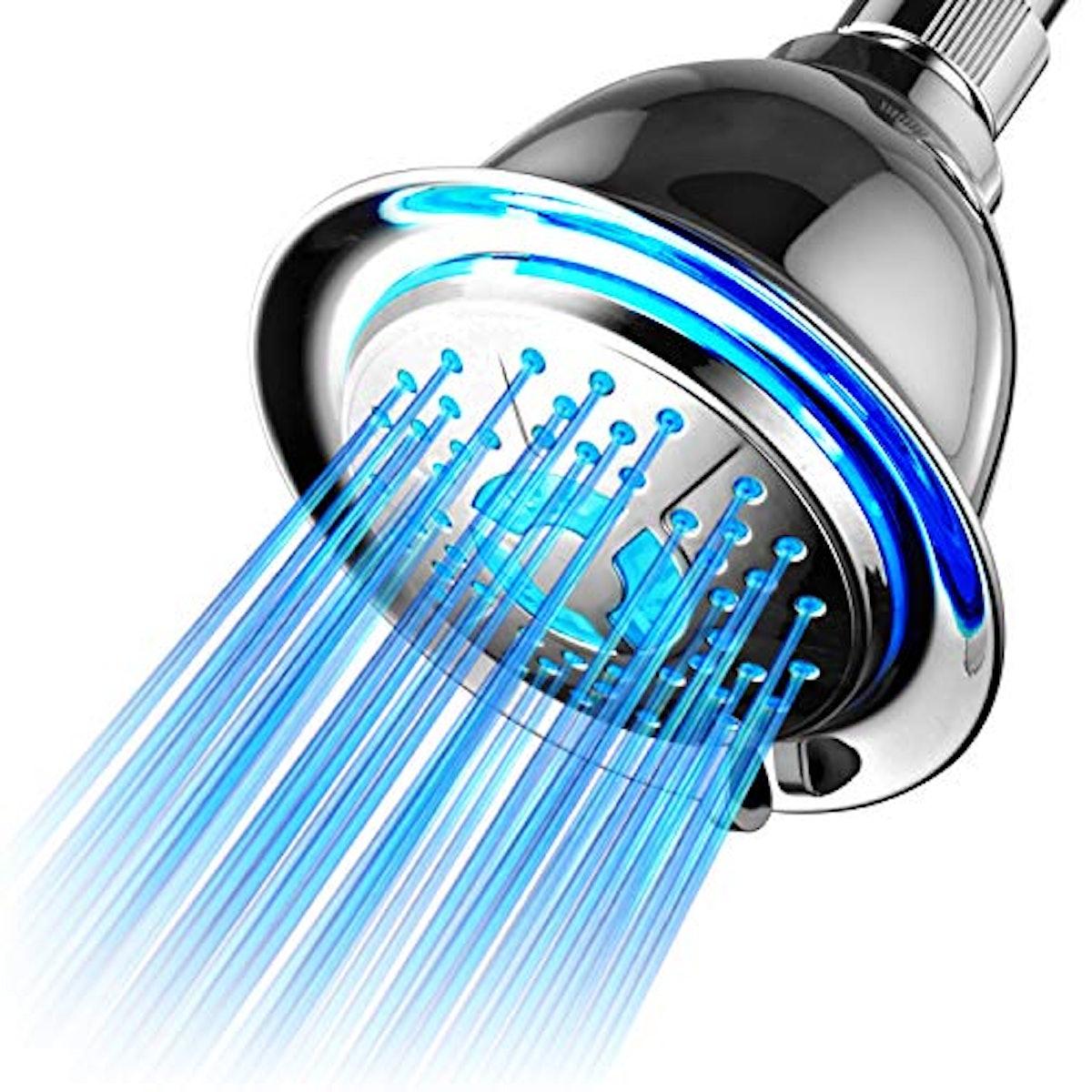 PowerSpa All Chrome 4-Setting LED Shower Head
