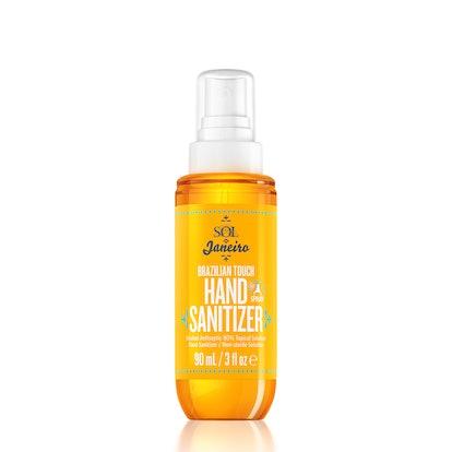 Sol de Janeiro's Brazilian Touch Hand Sanitizer Spray in bottle packaging.