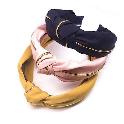 Exlinonline Cross Knot Headbands (3 Pieces)