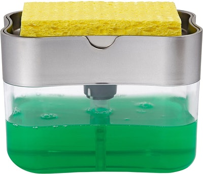 S&T INC. Soap Pump Dispenser and Sponge Holder