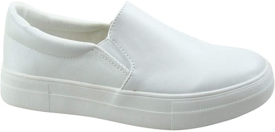 SODA Women's Perforated Slip On Sneakers