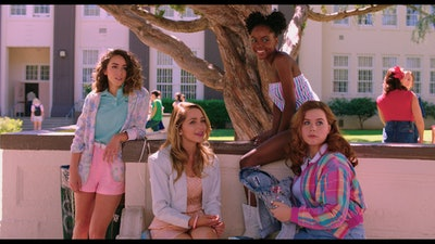 Chloe Bennet, Jessica Rothe, Ashleigh Murray and Jessie Ennis in 'Valley Girl.'
