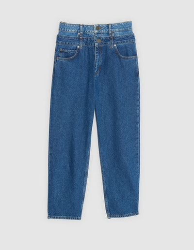 Layered High-Waisted Jeans