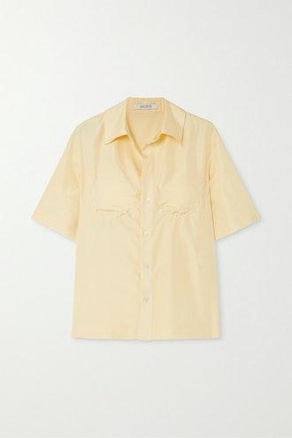Perrette Underwired Silk-Satin Shirt