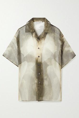 Printed Organza Shirt