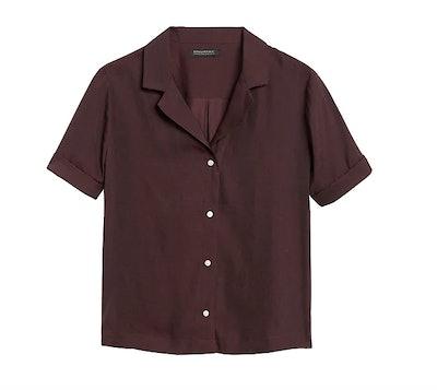 Camp-Collar Blouse