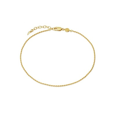 Lucy Williams Gold Rope Anklet