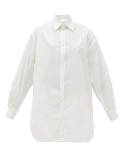 Oversized Dropped-shoulder Cotton-Blend Shirt