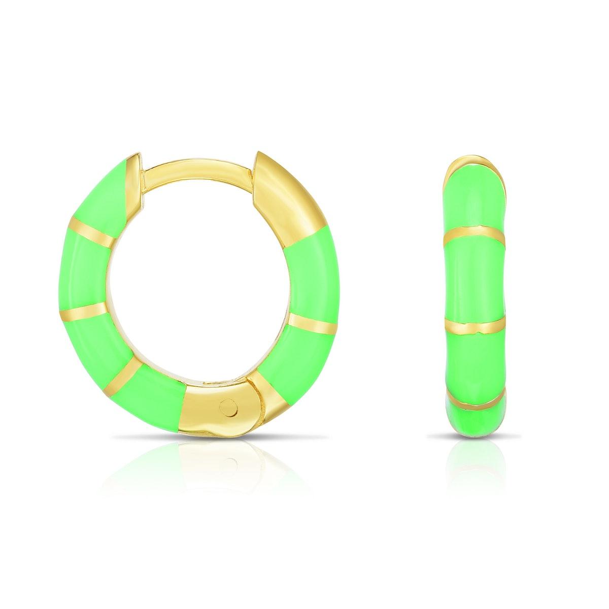 Alice Mini Neon Enamel Hoops