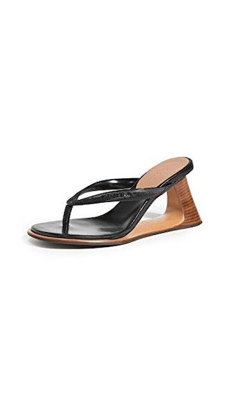 Wooden Heel Flip Flops