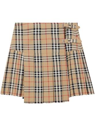Vintage Check Kilt Skirt