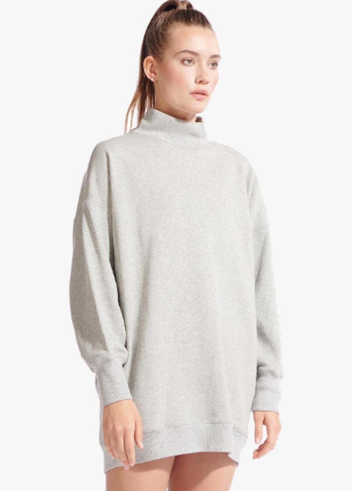 SWEATSHIRT DRESS | HEATHER GREY