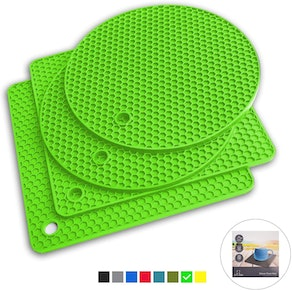 Q's INN Silicone Potholders and Trivet Mats