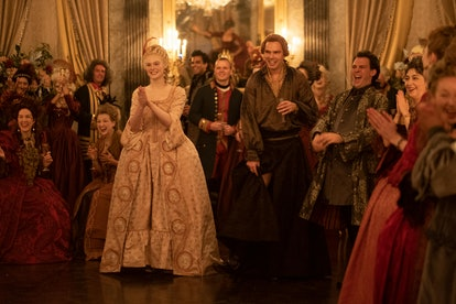 Elle Fanning and Nicholas Hoult in Hulu's The Great.