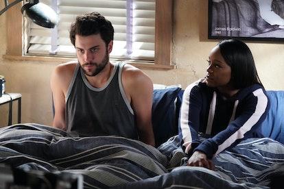 Jack Falahee & Aja Naomi King as Connor & Michaela in 'HTGAWM'
