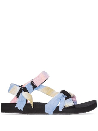 Panelled Knotted Flat Sandals