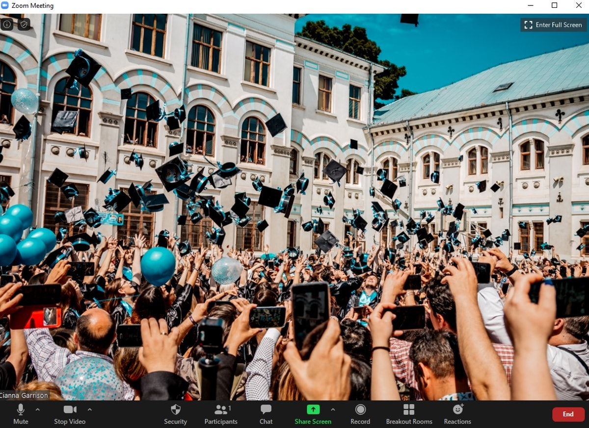 These 12 graduation Zoom backgrounds will give your celebration calls a boost.