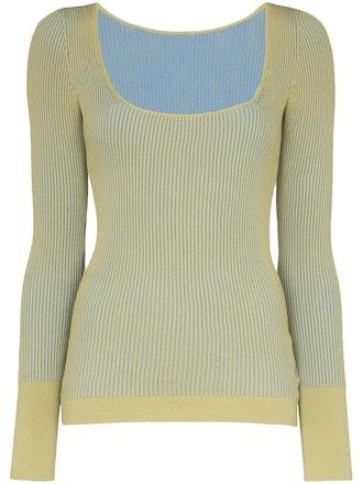 La Maille Rosa Striped Knit Top