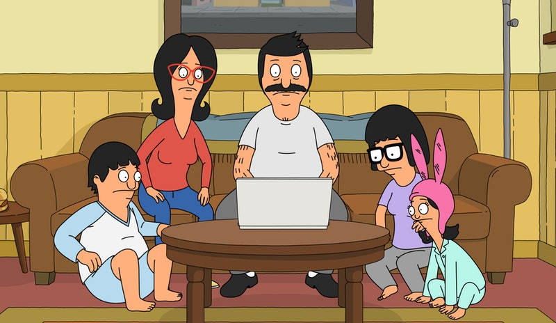 Gene, Linda, Bob, Tina, and Louise Belcher in 'Bob's Burgers' Season 10