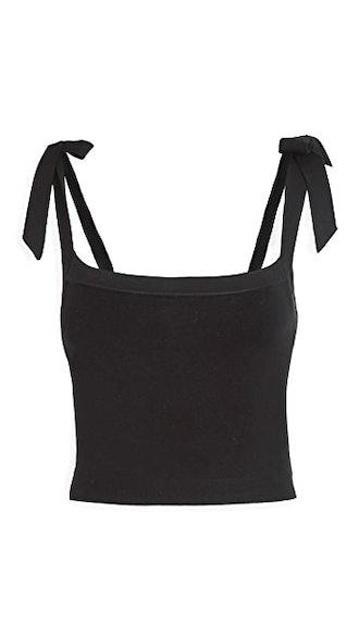 Crop Cami Bow Shoulders