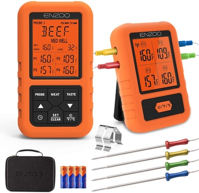 ENZOO Wireless Meat Thermometer With 4 Probes