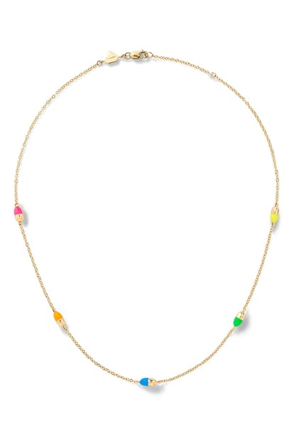 14K Yellow Gold Pill By the Yard Necklace