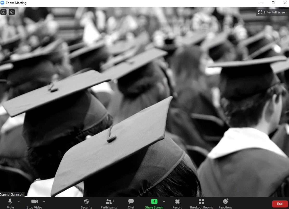 These 12 graduation Zoom backgrounds are perfect to celebrate your commencement virtually.