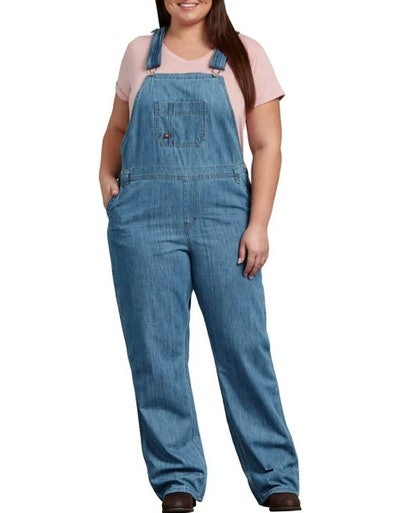 Relaxed Fit Straight Leg Bib Overalls