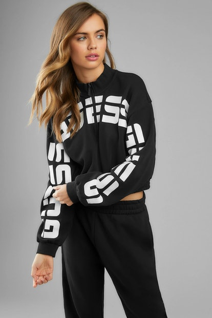 Eco Amber Curved Logo Pullover