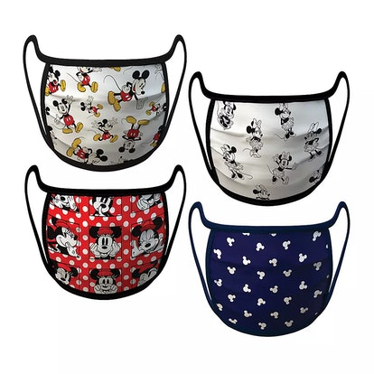 Medium – Mickey and Minnie Mouse Cloth Face Masks 4-Pack Set – Pre-Order