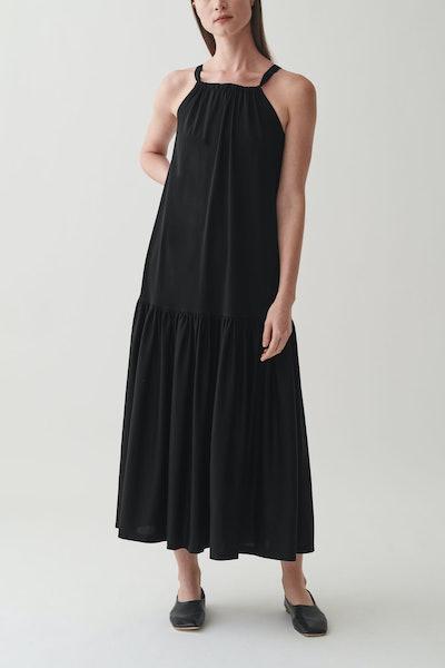Long Sleeveless Cotton Dress