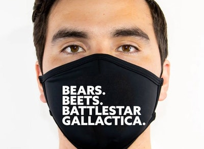 Bears Beets Battlestar Galactica Face Mask