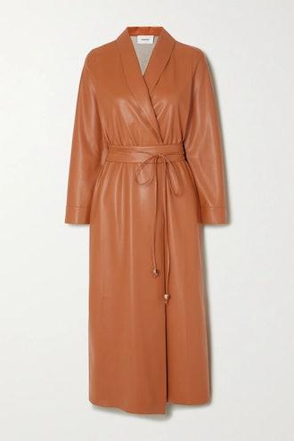 Emery Vegan Leather Wrap Dress