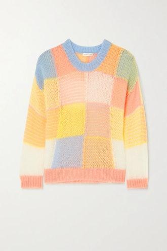 Sana Color-Block Open-Knit Sweater