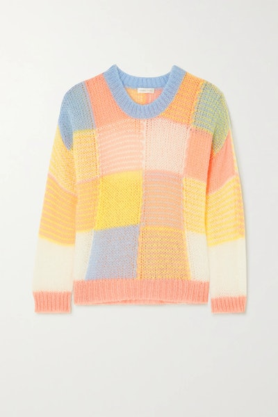 Sana Color-Block Open-Knit Sweater