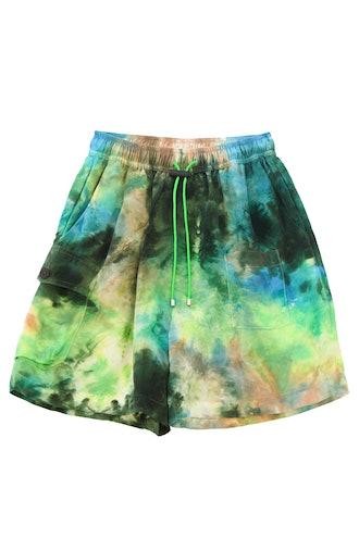 Camp Short in Earth Tie-Dye
