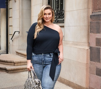 All Worthy Hunter McGrady Stretch Crepe One-Shoulder Top with Tie