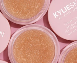 The latest addition to the Kylie Skin lineup is a Sugar Lip Scrub