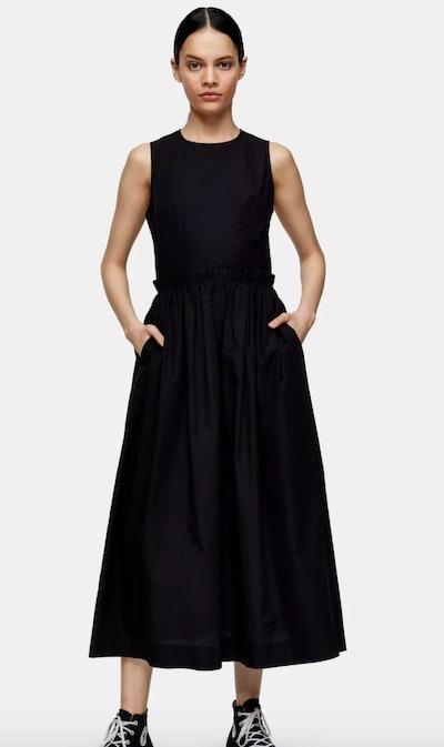 Black Poplin Dress By Topshop Boutique