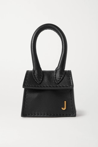 Le Chiquito micro textured-leather tote