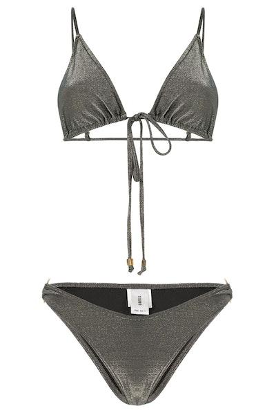 Suboo Gigi Slate Metallic String Bikini