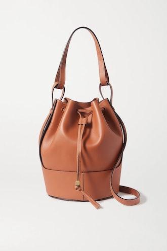 Balloon medium leather bucket bag