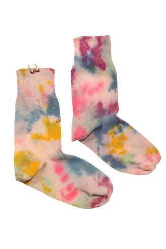 Pierced Socks in 272c Tie-Dye