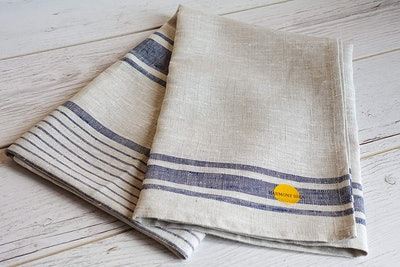 Harmony Idea Natural Linen 100% Flax Bath Towel