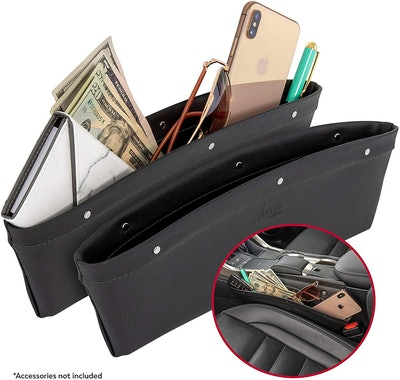 Lusso Gear 2-in-1 Car Seat Gap Organizer (2-Pack)